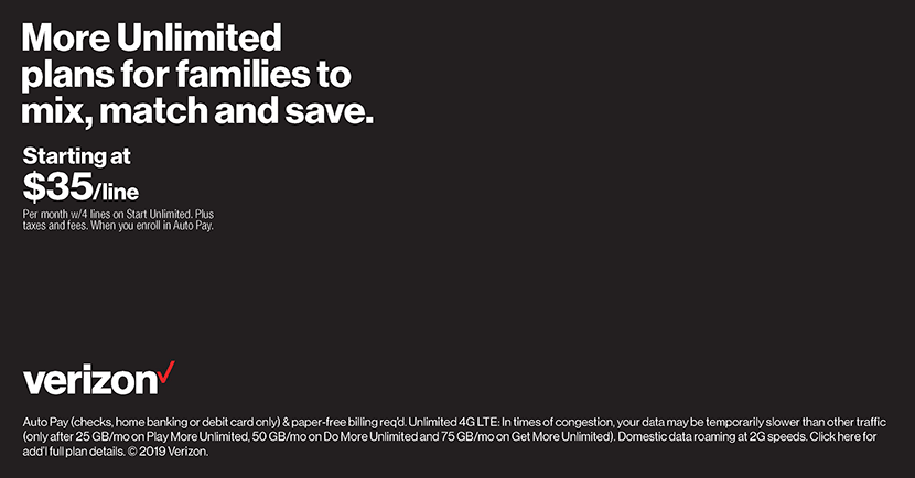 More Unlimited plans for families to mix, match and save.
