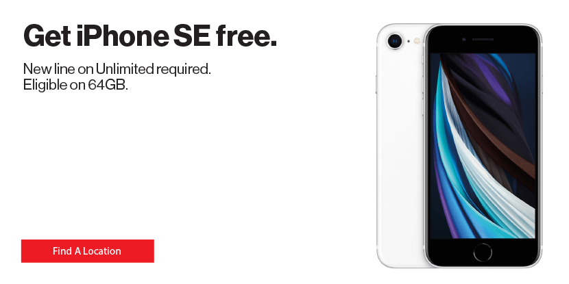 Get iPhone SE free with new line on Verizon Unlimited